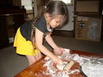 Pizza Day! Ayumi rolling the dough.jpg