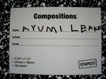 ayumi wrote her name.jpg