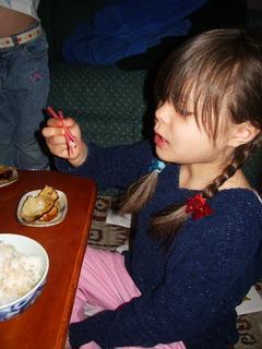 home-made gyoza ayumi eating .jpg